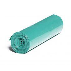 LDPE – Igelitové vrecia na odpad 500x600mm/0,04mm, zelené, 35 litrov, 25 ks