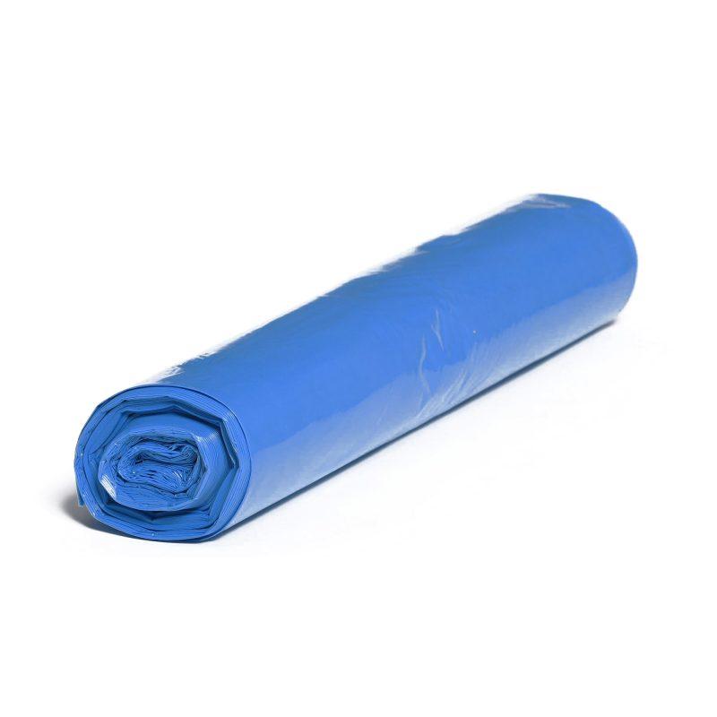 LDPE – Igelitové vrecia na odpad 900x1100mm/0,05mm, modré, 150 litrov, 25 ks