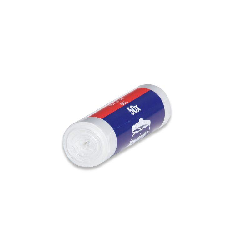 HDPE – Mikroténové vrecia na odpad 490x600mm/0,007mm, transparentné, 30 litrov, 50 ks