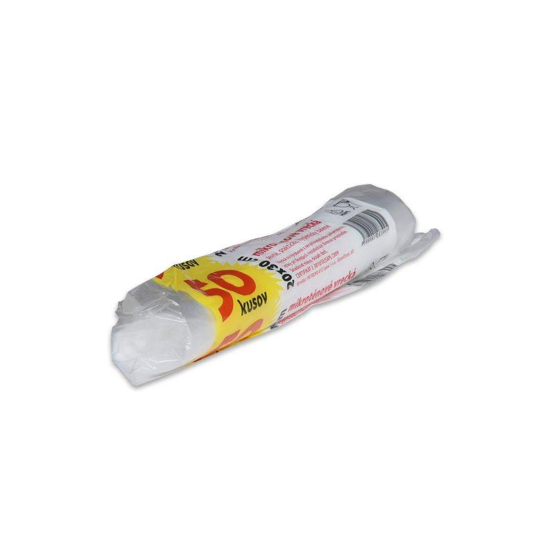 HDPE – Mikroténové vrecká do spotreby 250x350mm, transparentné, rolo 50 ks