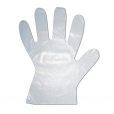 HDPE – Mikroténové rukavice jednorazové, velkosť L, transparentné, blok 100 ks